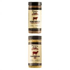 Flaming Coals Traditional Lamb Rub + Flaming Coals Bovine Espresso Brisket & Steak Rub
