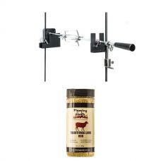 Adventure Kings Camping Rotisserie + Flaming Coals Traditional Lamb Rub