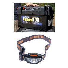 Adventure Kings Maxi Battery Box + Illuminator LED Head Torch