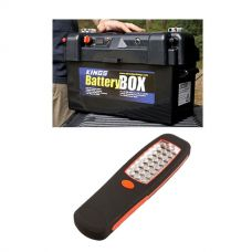 Adventure Kings Maxi Battery Box + Illuminator 24 LED Work Light
