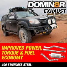 Domin8r Stainless Steel Exhaust Suitable For Mazda BT50 UN Ford Ranger PJ-PK 3.0 LITRE All Bodies 2006-2010 (MANUAL)