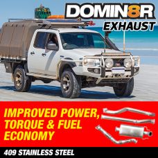 Domin8r Stainless Steel Exhaust Suitable For Mazda BT50 UN Ford Ranger PJ-PK 3.0 LITRE All Bodies 2006-2010 (AUTO)