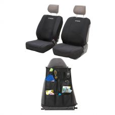 Adventure Kings Neoprene Front Seat Covers + Adventure Kings - Car Seat Organisers