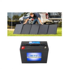 Adventure Kings 250W Solar Blanket + AGM Deep Cycle Battery 98AH