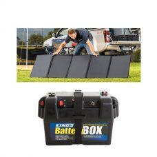 Adventure Kings 250W Solar Blanket + Battery Box