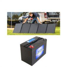 Adventure Kings 250W Solar Blanket + AGM Deep Cycle Battery 115AH