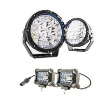 "Adventure Kings 7"" Lethal LED Driving Lights (Pair) + 4"" LED Light Bar (Pair)"