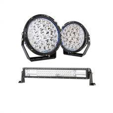 """Kings Lethal 9"""" Premium LED Driving Lights (Pair) + Kings Domin8r 22"""" LED Light Bar"""