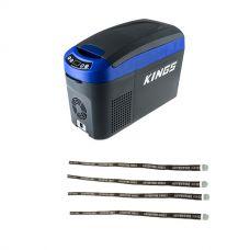 Adventure Kings 15L Centre Console Fridge/Freezer + Fridge Tie Down Straps (4 pack)