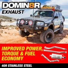 Domin8r Stainless Steel Exhaust Suitable For Nissan Patrol GU 3.0 LITRE WAGON 2000 ONWARDS (inc COMMON RAIL)