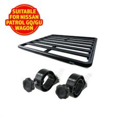 Adventure Kings Aluminium Platform Roof Rack Suitable for Nissan Patrol GQ/GU Wagon 1987-2016 + Platform Roofrack Shovel Holder