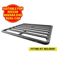 Adventure Kings Aluminium Platform Roof Rack Suitable for Nissan Navara D40 Dual-Cab 2005-2015