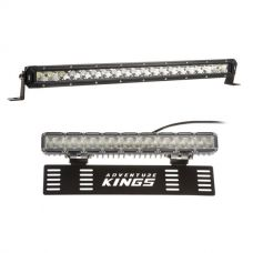 "Kings 20"" LETHAL MKIII Slim Line LED Light Bar + 15"" Numberplate LED Light Bar"