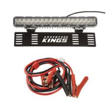 "15"" Numberplate LED Light Bar + Heavy-Duty Jumper Leads"