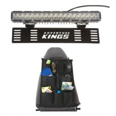 "15"" Numberplate LED Light Bar + Car Seat Organiser"