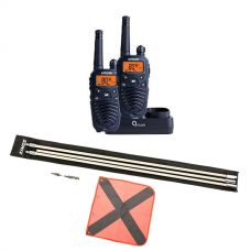 Oricom Handheld UHF CB Radio Twin Pack - UHF2190 + Adventure Kings 3m Sand Safety Flag