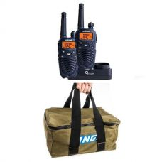 Oricom Handheld UHF CB Radio Twin Pack - UHF2190 + Adventure Kings Canvas Recovery Bag
