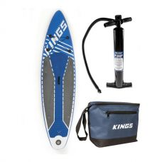 Adventure Kings Inflatable Stand-Up Paddle Board + Single-Action Paddleboard Pump + Cooler Bag