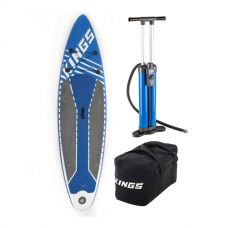 Adventure Kings Inflatable Stand-Up Paddle Board + Triple-Action Inflatable Paddleboard Pump + Heavy-Duty Duffle Bag