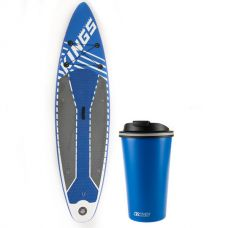 Adventure Kings Inflatable Stand-Up Paddle Board + Kings 410ml Travel Mug