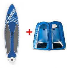 Adventure Kings Double Ensuite/Shower Tent + Inflatable Stand-Up Paddle Board