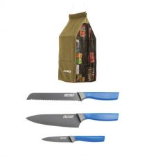 Adventure Kings Hanging Pantry + 4-Piece Camping Chef's Knives Kit