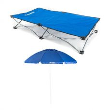 Kings Folding Pet Bed + Beach Umbrella