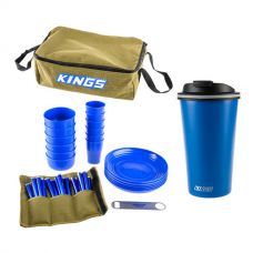 Adventure Kings 37 Piece Picnic Set + 410ml Travel Mug
