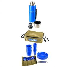 Adventure Kings 37 Piece Picnic Set + 1.2L Vacuum Flask