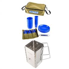 Adventure Kings 37 Piece Picnic Set + Charcoal Starter