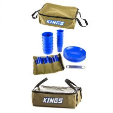 Adventure Kings 37 Piece Picnic Set + Adventure Kings Clear Top Canvas Bag