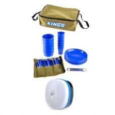Adventure Kings 37 Piece Picnic Set + Adventure Kings Mini Lantern
