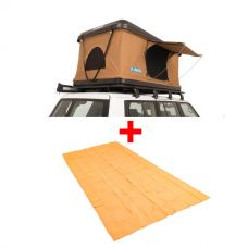 Adventure Kings 'Kwiky' Pop Up Roof Top Tent + Mesh Flooring 6m x 3m