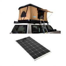 Kings Kwiky MKII Hard Shell Rooftop Tent + 160w Fixed Solar Panel