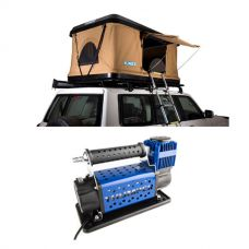 Kings Kwiky MKII Hard Shell Rooftop Tent + Thumper Air Compressor MkIII