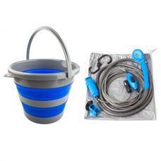 Portable Shower Kit + Collapsible 10L Bucket