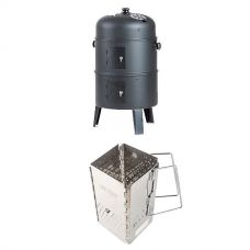 Adventure Kings Portable Meat Smoker + Charcoal Starter