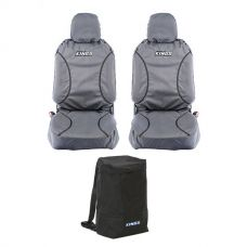 Kings Universal Premium Canvas Seat Covers (Pair) + Heavy Duty Dirty Gear Bag