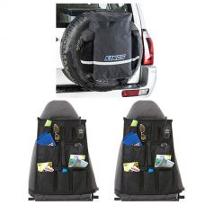 Kings Premium 48L Dirty Gear Bag + 2x Car Seat Organiser
