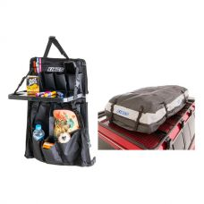 Adventure Kings Premium Waterproof Roof Top Bag + Premium Car Seat Organiser with Folding Table