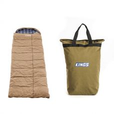 Premium Sleeping bag -5°C to 5°C Degrees Celsius Left Zipper + Doona/Pillow Canvas Bag