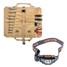 Adventure Kings Premium Tool Roll + Illuminator LED Head Torch