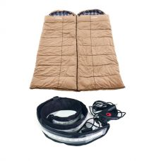 2x Adventure Kings Premium Sleeping bag -5°C to 5°C Degrees Celsius - Left and Right Zipper + Illuminator MAX LED Strip Light