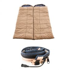 2x Adventure Kings Premium Sleeping bag -5°C to 5°C Degrees Celsius - Left and Right Zipper + Adventure Kings LED Strip Light