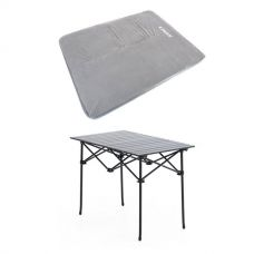 Adventure Kings Self Inflating 100mm Foam Mattress - Queen + Aluminium Roll-Up Camping Table