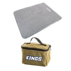 Adventure Kings Self Inflating Foam Mattress - Queen + Toiletry Canvas Bag
