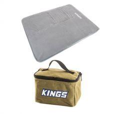 Adventure Kings Self Inflating Foam Mattress - Queen + Toiletry Canvas Bag