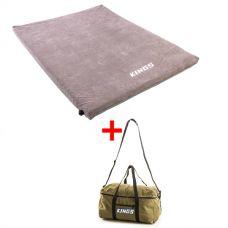 Adventure Kings Self Inflating 100mm Foam Mattress - Queen + Travel Canvas Bag