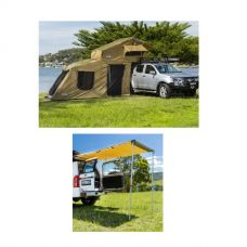 Adventure Kings Roof Top Tent + 6-man Annex + Rear Awning - 1.4 x 2m