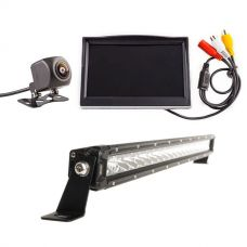 "Adventure Kings Reverse Camera Kit with 5"" Screen + 20"" LETHAL MKIII Slim Line LED Light Bar"